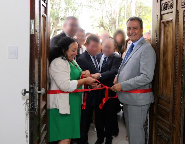 Foto: TJBA durante reinauguração do Fórum de São Gonçalo dos Campos, onde a ex-presidente tem uma propriedade.